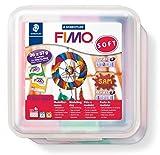 Staedtler FIMO Soft, Pack de 26 pains de pâte à modeler FIMO, À cuire au four pour...