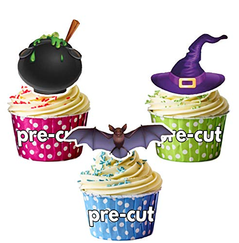 Cauldron Mix Kuchen Dekorationen - 12 Esspapier Cup Cake Topper ()