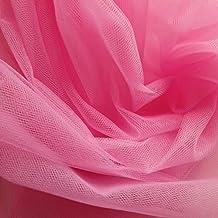 Tela de tul de color rosa cereza de 300cm de ancho - Se vende por metro - Apto para trajes de baile, enaguas, velos, plisado y fruncido