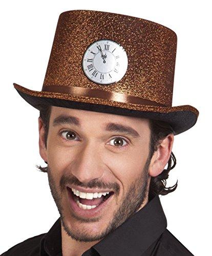 erdbeerclown - Hut Kostüm Kappe Kopfbedeckung Silvester Uhr, (Militär Für Kostüme Jugendliche)