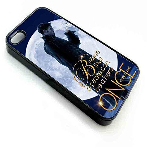 Once upon a time captain hook, Iphone Case coque iPhone 5/5s white, coques iphone