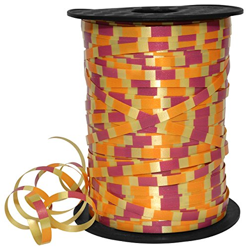 Morex Band 32805Blindnietmutter/500–606Harlekin Ringelband aus Polypropylen, 3/40,6cm 500YD, Kirschrot