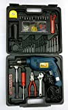 Tools Centre TC_KIT Drill Machine 650 Watt with Speed Regulator, Hammer Action and Reverse, 105 Pieces with Carry Case