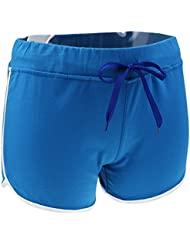 MagiDeal Short Femme Sport Eté Taille Haute Fitness Yoga Gym en Coton Doux avec Bande Ajustable
