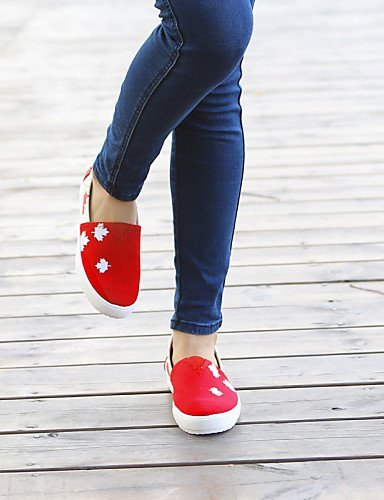 Chaussures Shangyi Femmes - Mocassins - Bureau Et Travail / Casual - Creepers - Plateau - Corde Di - Rouge, Rouge-us6.5-7 / Eu37 / Uk4.5-5 / Cn37, Rouge-us6.5-7 / Eu37 / Uk4 .5-5 / Cn37 Rouge