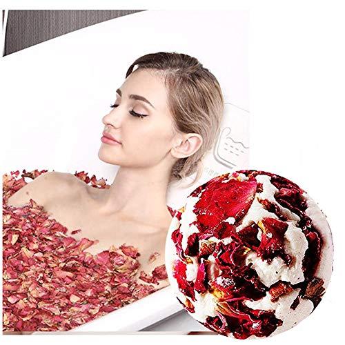 Rose ätherisches Öl Duschschwamm, feuchtigkeitsspendende Haut erweichen die Nagelhaut lindern Müdigkeit Blase Badekugel/Badesalzkugel/Duschkugel -