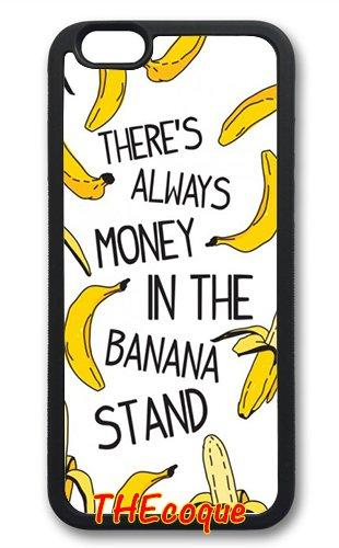 Coque silicone BUMPER souple IPHONE 6/6s - banane fruit motif 2 DESIGN case+ Film de protection OFFERT 3