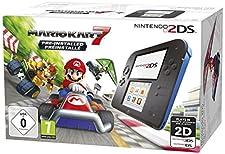Console Nintendo 2DS - noire et bleue + Mario Kart 7