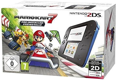 Nintendo 2DS - Konsole (schwarz) inkl. Mario Kart 7