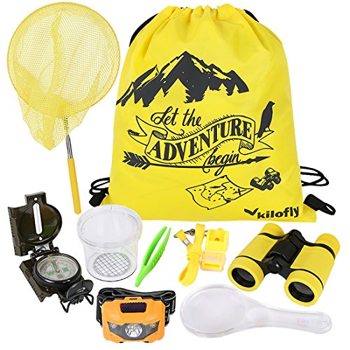 kilofly Unisex-Baby 9-In-1 Kinder Natur Explorer Kit Fun Hinterhof Bug Fangen Adventure-Pack einheitsgröße set9
