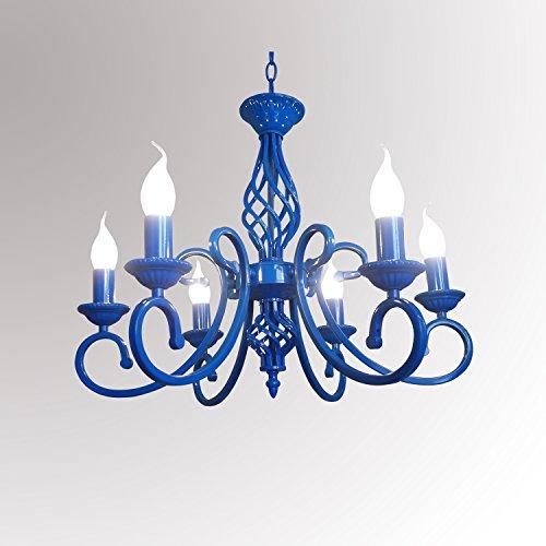 Arm-kerze Kronleuchter (Kronleuchter mit 6 Armen Kerze Pendelleuchte Eisen Kunst Neuheit Beleuchtung für Esszimmer Wohnzimmer 220-240V von Lightinthebox)