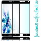 delightable24 Hartglas Schutzglas Tempered Glass Displayfolie SAMSUNG GALAXY NOTE 4 Smartphone mit 100% Display-Abdeckung - Kristall Klar (Schwarz)