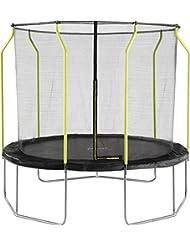 Plum® Unisex-Youth Trampoline, Black, 10ft