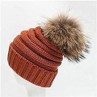 GHC Gorras y Sombreros Versión Coreana Plus Velvet Thick Warm Bowler Hat Otoño e Invierno Nuevo Gorro de Lana para Mujer (Color : Latón, tamaño : 55-60cm)
