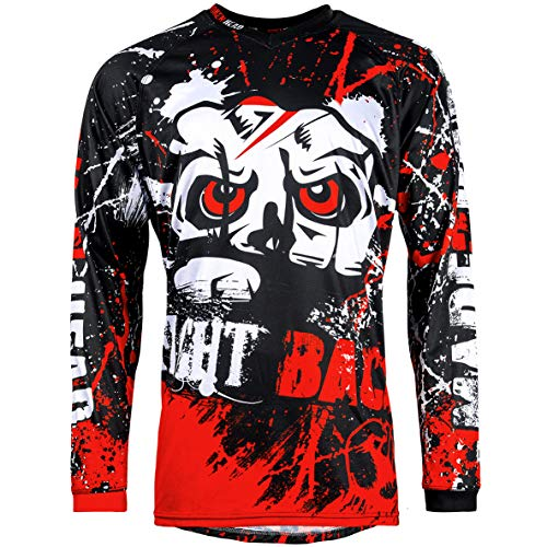 Broken Head MX Jersey Strike Back Rot - Langarm Funktions-Shirt Für Moto-Cross, BMX, Mountain Bike, Offroad - Größe XXL