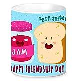 Jikraa Blue Best Friends Coffee Mug Multicolor 350 ml