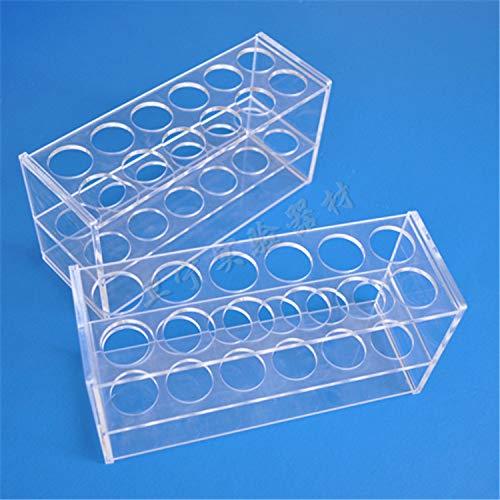 juler Laborgeräte und -ausrüstung Flüssigkeits- und Flüssigkeitshandhabung zweireihiger, kolorimetrischer 12-Loch-Plexiglas-Röhrchenhalter aus Acryl in verschiedenen Größen,Transparent,L