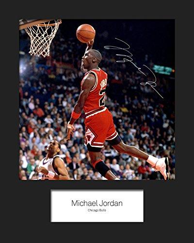 FRAME SMART Michael Jordan | Signierter Fotodruck | 10x8 Größe passt 10x8 Zoll Rahmen | Maschinenschnitt | Fotoanzeige | Geschenk Sammlerstück