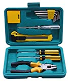 Novicz Plastic Home Tool Box Set Multicolor-3 (12-Pcs)