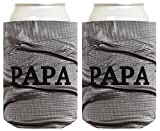 Father's Day Gift for Papa Funny Duct Tape Pattern 2 Pack Can Coolie Drink Coolers Coolies Duct Tape