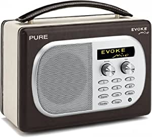 pure evoke mio chocolate rechargeable dab fm radio. Black Bedroom Furniture Sets. Home Design Ideas