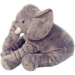 niceEshop(TM) Almohada de Felpa Según la Forma En Elefante Bebé y Niños (gris)