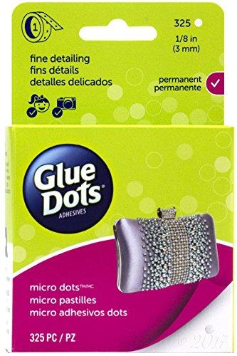 Glue Dots Doppelseitige Micro Klebepunkte, Rolle mit 325 Punkten, Permanent, Rund, 3 mm, Vielseitige Verwendung, DIY Basteln, Karten Gestalten und Verzieren