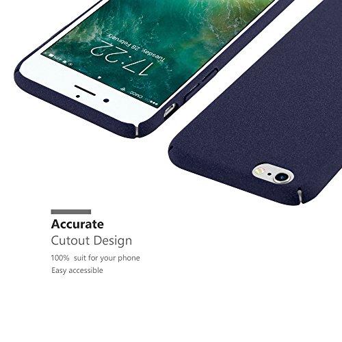 Cadorabo - Hard Cover Slim Case Mat en Design FROSTY pour Apple iPhone 6 PLUS - Housse Bumper Coque in FROSTY-ROUGE FROSTY-BLEU