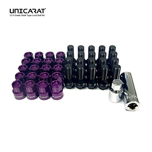 BLOXSPORT the Original forged wheel bolts Lug Nuts geschmiedete Radschrauben Bolzen Muttern Purple 12.9 Kugelbund Ballseated R13 M14x1.5 28mm