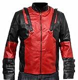 classyak Herren Fashion Deadpool Leder Jacke Gr. XXXXX-Large, Faux Red