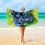 Jacklee Strandtücher UVA Pittura a Olio groß Mikrofaser für Erwachsene Kinder 94 x 188 cm Schnell trocknend Leicht Super saugfähig Reisehandtuch