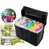 Best Art Markers - 80 Different Colors Art Sketch Twin Marker Pens Review