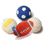 Giocattolo per cani - Morso interattivo sferico per animali domestici, palla molare, addestramento per animali domestici, materiale in lattice ecologico - Set di 4 pezzi (dimensioni : M)