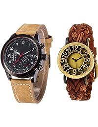 Swadesi Stuff Exclusive Premium Quality Watch Couple Combo Of 2 Watches For Men & Women