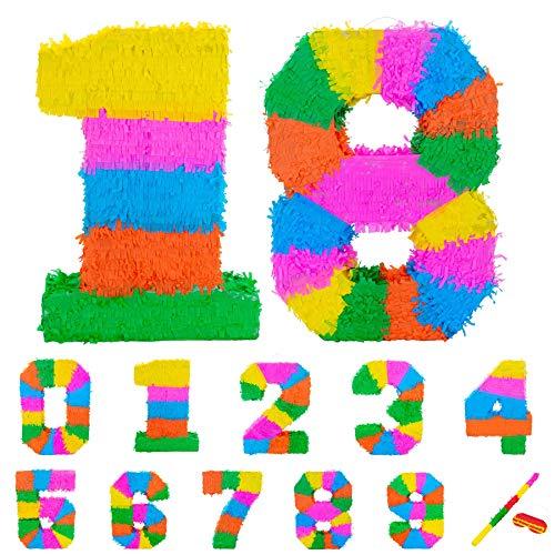 Fax Potato Pinata Set mit Stick & Blindfold - 18. Geburtstag/Jahrestag - Rainbow