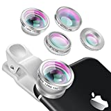 Phone lens Fisheye Objektiv Set - Yarrashop 3 in 1 Fischauge Handy Clip On Kamera Adapter (180 Grad Fisheye Objektiv, 0.65X Weitwinkelobjektiv, 10X Makroobjektiv ) für iPhone Samsung Galaxy HTC LG Sony IOS & Android Smartphones usw