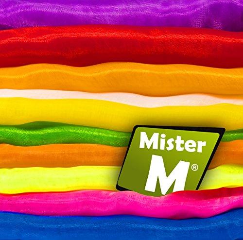 ✓ 20 Tücher ✓ Geprüft ✓In der EU Zusammengestellt ✓ Rhythmik, Jonglier, Tanz Tücher ✓ mit GRATIS online Jonglier Lern Video - von MisterM (20 Stück)