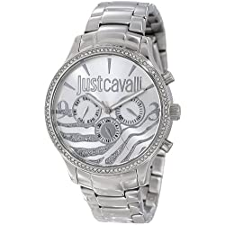 Just Cavalli Damen-Armbanduhr HUGE Analog Quarz Edelstahl R7253127513