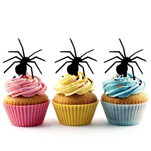 Spider Halloween Kuchenaufsätze Hochzeit Geburtsta Acryl Dekor Cupcake Kuchen Topper Stand für Kuchen Party Dekoration 10 Stück