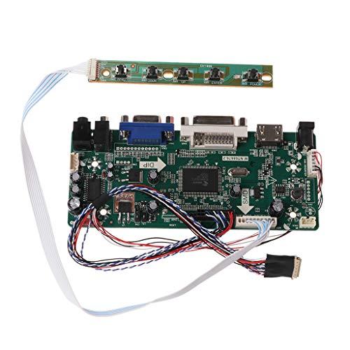 JimTw-UK Controller Board LCD HDMI DVI VGA Audio PC Module Treiber DIY Kit 15,6 Zoll Display B156XW02 1366x768 1CH 6/8-Bit 40-poliger Panel