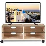 RFIVER TV Tisch Fernsehtisch Fernsehschrank Lowboard Board Couchtisch mit Rollen Rollbar Möbel Holz 110x40x44 cm in Eiche TS5001
