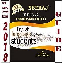 FEG2-Foundation Course in English-2 (IGNOU help book for FEG-2 in English Medium)