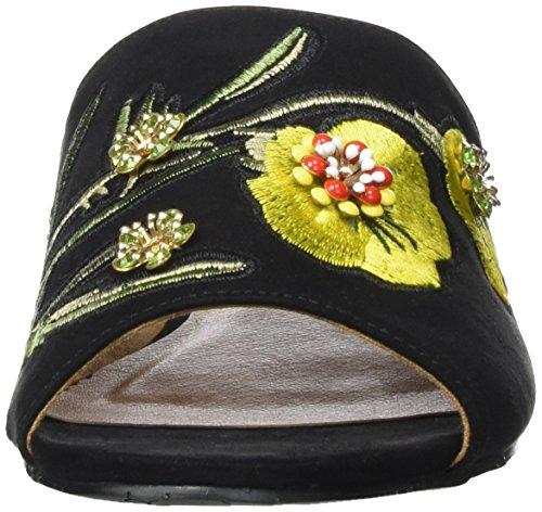 BIANCO - Blumen Pantolette, Pantofole Donna nero (nero)