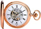 Royal London Rose Gold Half Hunter Mechanical Pocket Watch With Roman Numerals