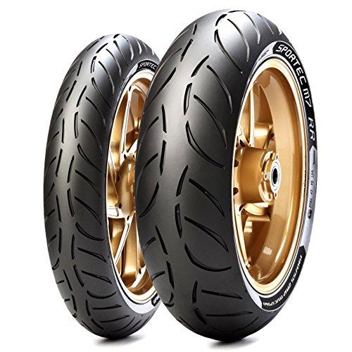 Paar Reifen Reifen Metzeler Sportec M7RR 110/70ZR 1754W 150/60ZR 1766W für Aprilia RS4125