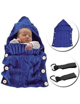 MiniGreen Baby Schlafsack Sommer Baumwolle Strick Kapuze Swaddle Pucksack für 0-12 Monat Nneugeboren Mädchen Jungen...