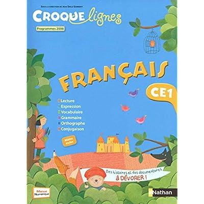 Croque Lignes Francais CE1 : Programmes 2012 - set de 2 livres