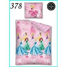 Fao–Juego de cama (funda de edredón + 1taie d almohada infantil niña princesa Disney rosa