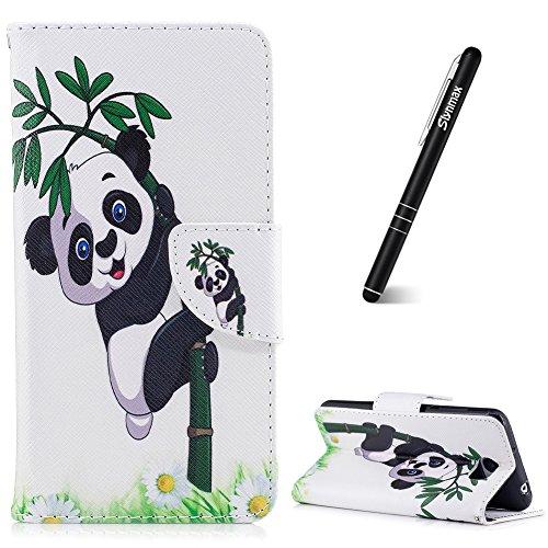 Coque Huawei Y5 II / Y5 2 Slynmax Étui en PU Cuir Panda et bambou Peint Mode Housse Portefeuille Case de Magnétique avec Emplacement de Cartes Fonction de Support pour Huawei Y5 II / Y5 2