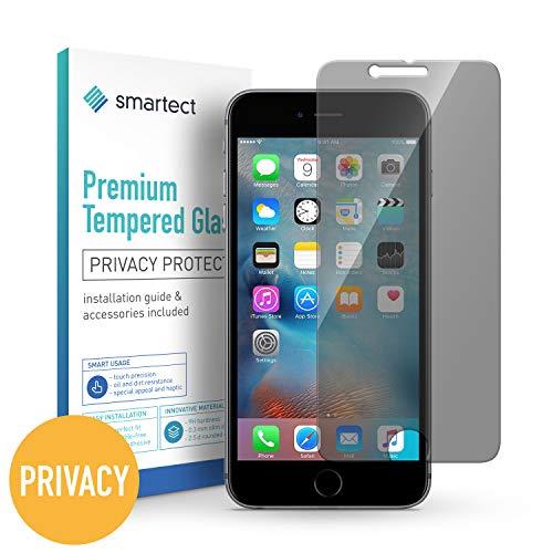 smartect Privacy Panzerglas für iPhone 6 / 6s mit Blickschutz [Privacy] - Displayschutz mit 9H Härte - Anti-Spy Blickschutzfolie mit Sichtschutz Filter - Blasenfrei - Set Screen Protector Iphone 6